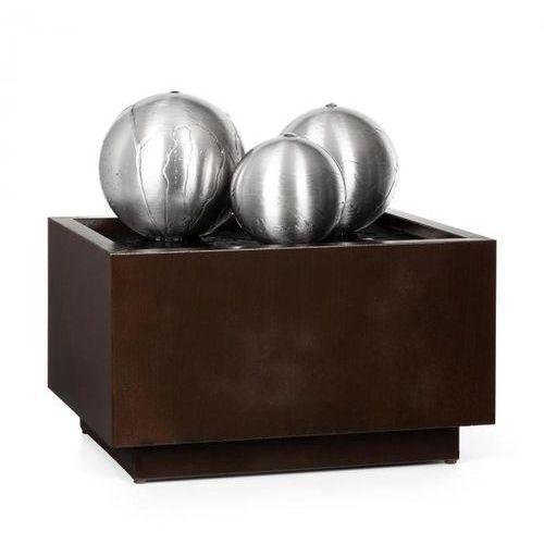 Blumfeldt Triumvirat, fontanna ogrodowa/pokojowa, LED, ocynkowana, ciemnobrązowa (4060656225703)