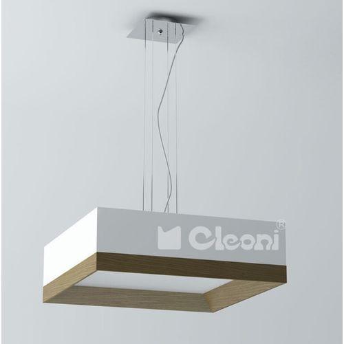 Cleoni Lampa wisząca bops 50 3x60w e27 biały mat żarówki led gratis!, 1305w51e117+