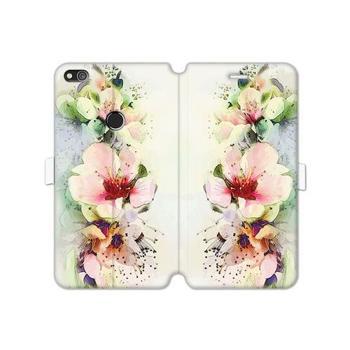 Etuo wallet book fantastic Huawei p8 lite (2017) - etui na telefon wallet book fantastic - róże herbaciane