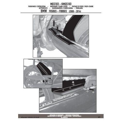 kmg5103 błotnik tylny bmw f650/700/800gs '08-13 czarny marki Kappa