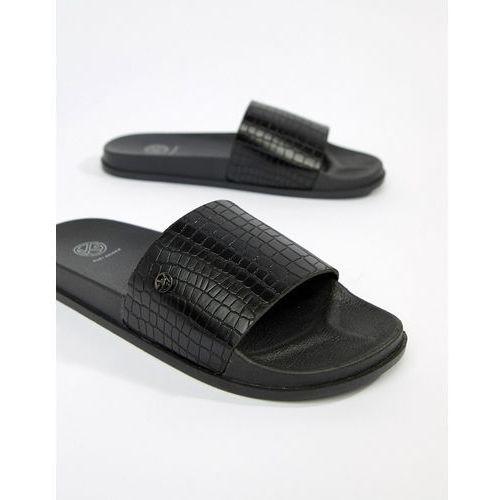 KG By Kurt Geiger Slider Flip Flops In Snake - Black, kolor czarny