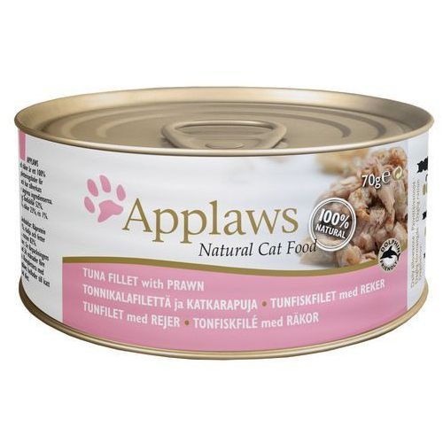 APPLAWS Natural Cat Food Filet z tuńczyka i krewetki 70g puszka, 4894 (1914056)