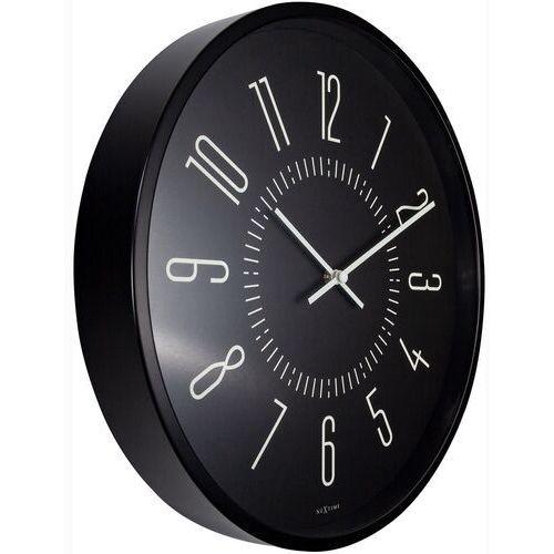 Zegar ścienny fluorescencyjny 35 cm luminous nextime czarny (3261 zw)