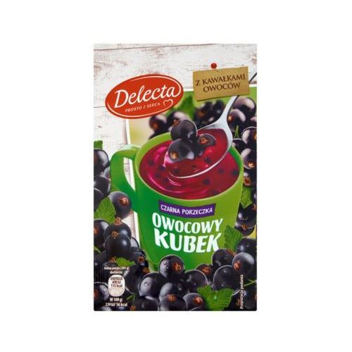 DELECTA 30g Owocowy kubek Kisiel smak czarna porzeczka