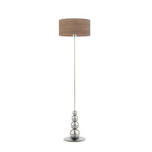 Lampa stojąca do salonu roma eco z fornirowym abażurem marki Lysne