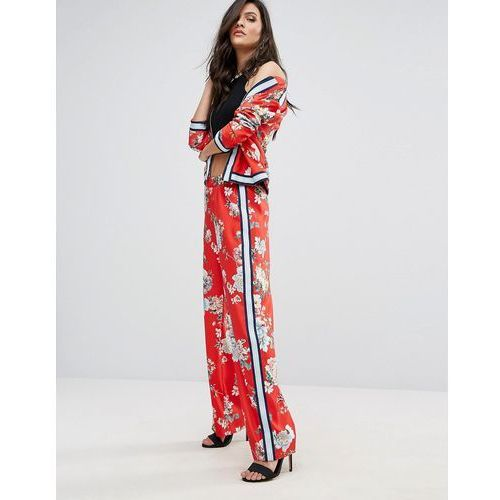 River Island Trouser In Floral Print With Side Stripe - Multi