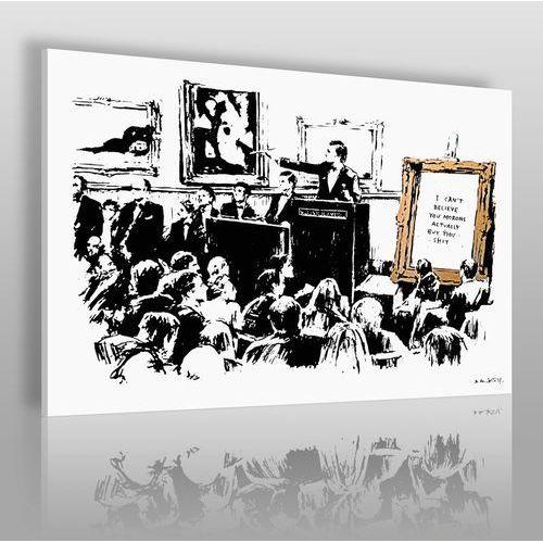 Banksy - Tłum - nowoczesny obraz na płótnie