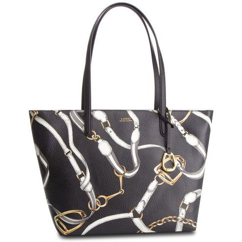 Torebka LAUREN RALPH LAUREN - Top Zip Tote 431742101004 Black Belt, kolor czarny