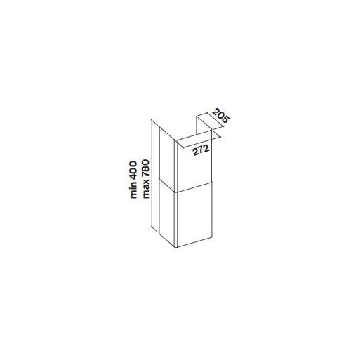 Komin Falmec Tab 60/80 - Inox - Największy wybór - 14 dni na zwrot - Pomoc: +48 13 49 27 557