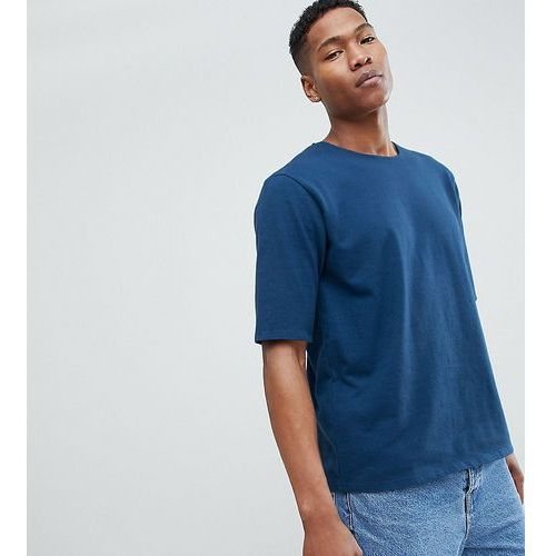Noak Oversized T-Shirt In Premium Textured Jersey - Navy, kolor szary