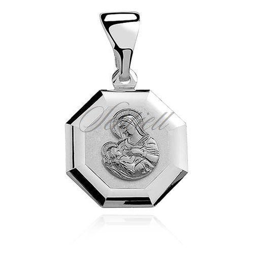 Srebrny medalik matka boska karmiąca - bez powłoki marki Sentiell