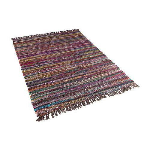 Beliani Dywan ciemnokolorowy 160x230 cm krótkowłosy - chodnik - bawełna - danca