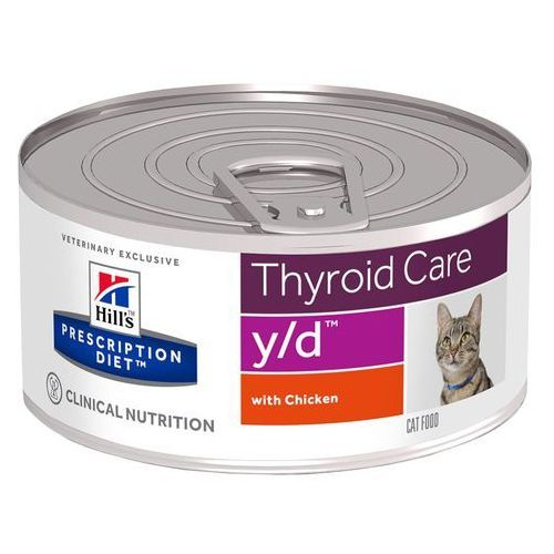 Hills prescription diet feline y/d thyroid care - 6 x 156 g