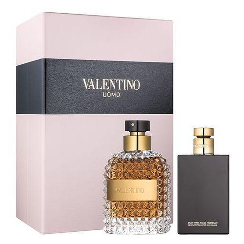 Valentino Valentino Uomo, Zestaw podarunkowy, woda toaletowa 100ml + balsam po goleniu 100ml