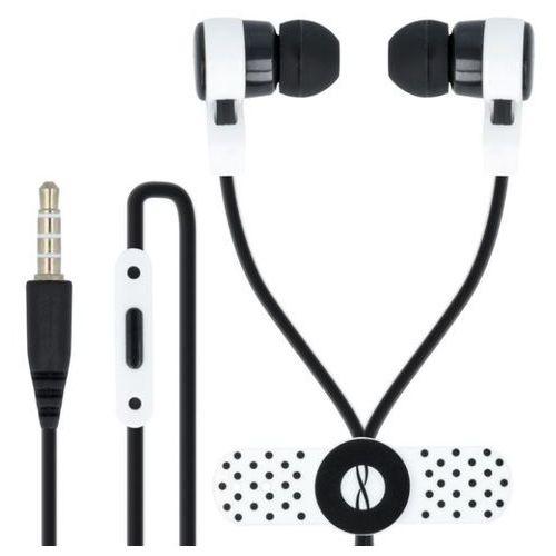 Słuchawki dokanałowe FOREVER CM-200 z mikrofonem Czarno-biały