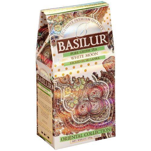 70425 100g white moon stożek herbata zielona liściasta | darmowa dostawa od 150 zł! od producenta Basilur