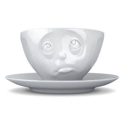 58products - filiżanka do kawy - zadąsana buźka - biała - 0,2 l