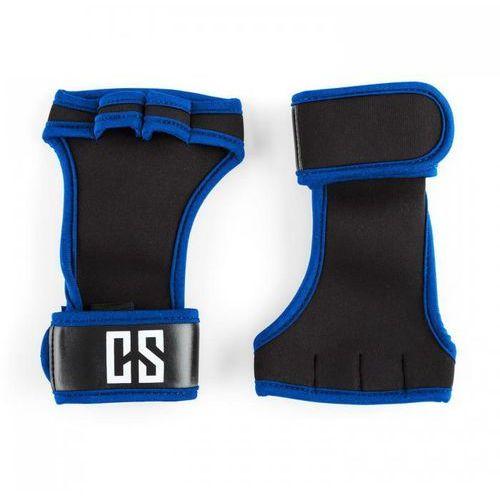 Palm pro rękawiczki do podnoszenia ciężarów wielkość m czarne/niebieskie marki Capital sports
