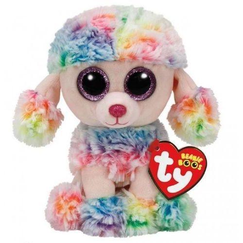 beanie boos rainbow - wielobarwny pudel 24 cm marki Ty