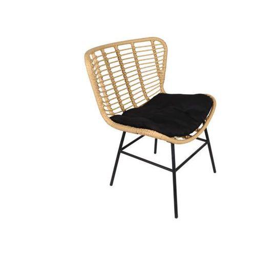 Fotel ogrodowy nicova z technorattanu - czarne siedzisko marki Vente-unique