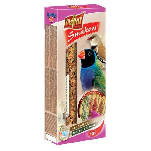 Vitapol Smakers nasienny kolby dla ptaków egzotycznych 2szt/90g z kategorii Pokarmy dla ptaków