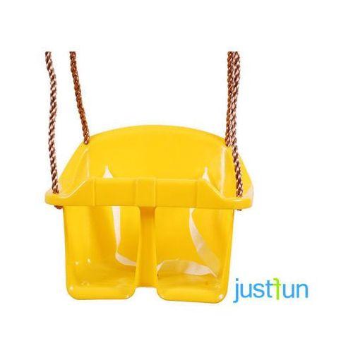 Huśtawka kubełkowa eco - żółty marki Just fun