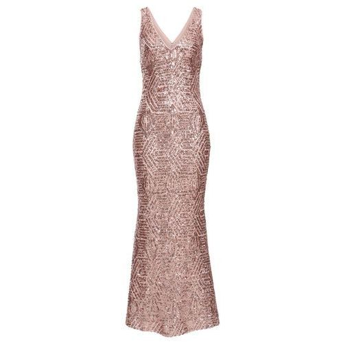 Sukienka z cekinami różowy kwarc marki Bonprix