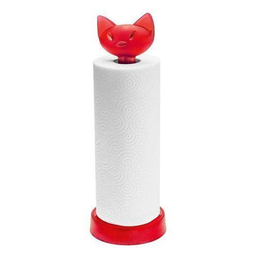 Stojak na ręczniki papierowe Miaou malinowy, 5225583