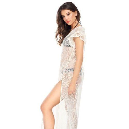 Sukienka Chia w kolorze beżowym, kolor beżowy