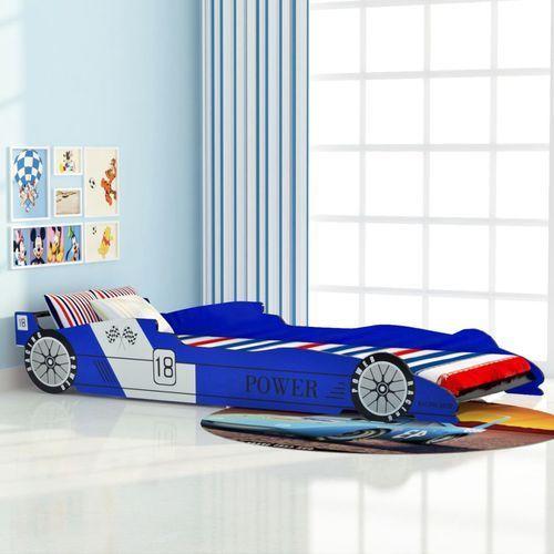 Vidaxl łóżko dziecięce w kształcie samochodu, 90x200 cm, niebieski (8718475556626)