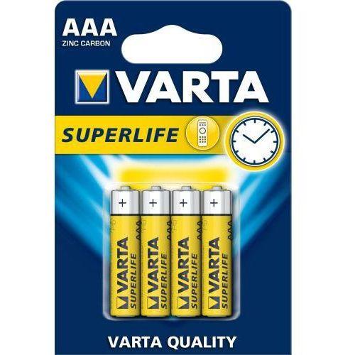 4 x bateria cynkowo-węglowa varta superlife r03 aaa (blister) marki Philips