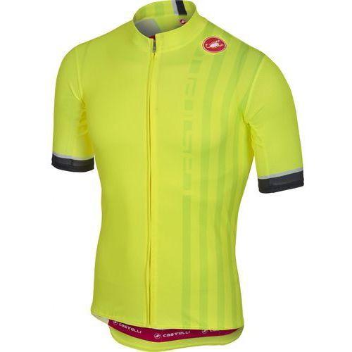 Castelli koszulka podio doppio jersey fz yellow fluo, l (8055688604752)