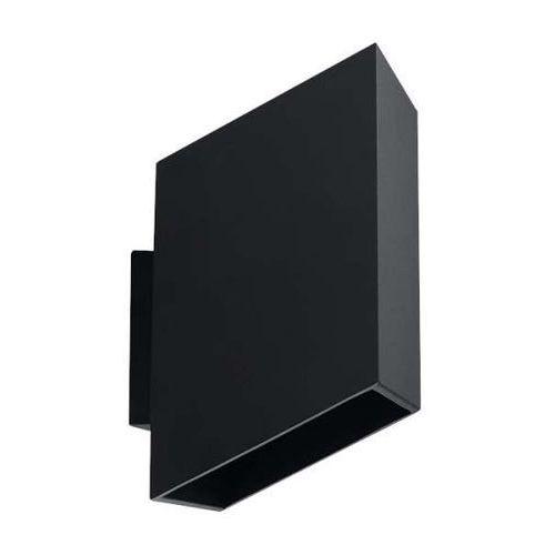 Sol Kinkiet lampa ścienna sl.378 prostokątna oprawa metalowa czarna (5902622428772)
