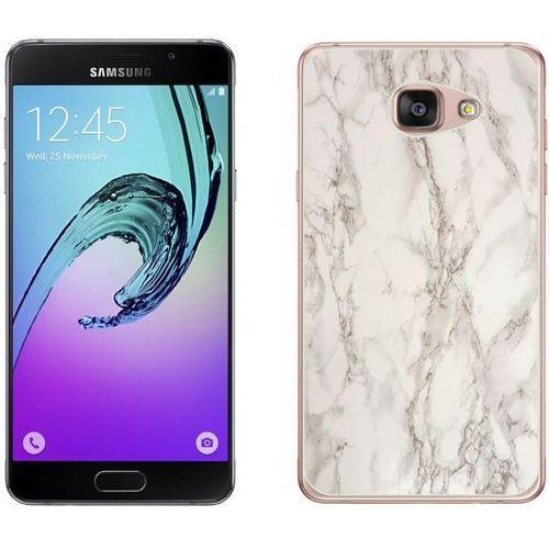 Samsung Galaxy A3 2016 - etui na telefon - Kolekcja marmur - marble biały - H17
