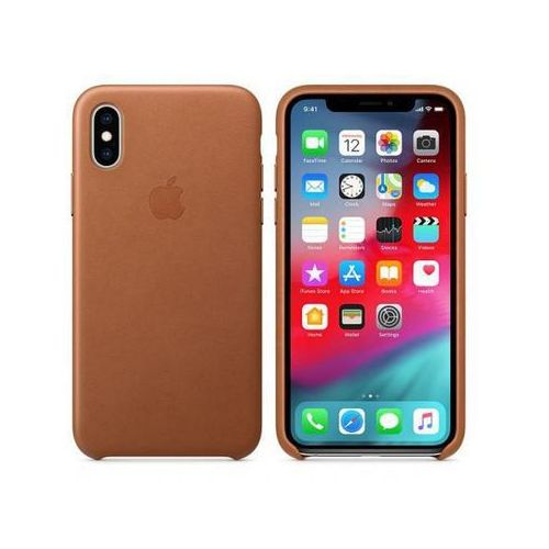 APPLE Leather Case do iPhone XS, Saddle Brown