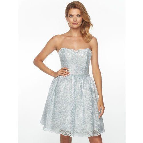 Sukienka esmeralda w kolorze srebrnym marki Sugarfree.pl