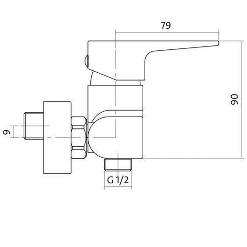 Bateria Cersanit Cersanit vigo s951-035 (chrom) S951-035