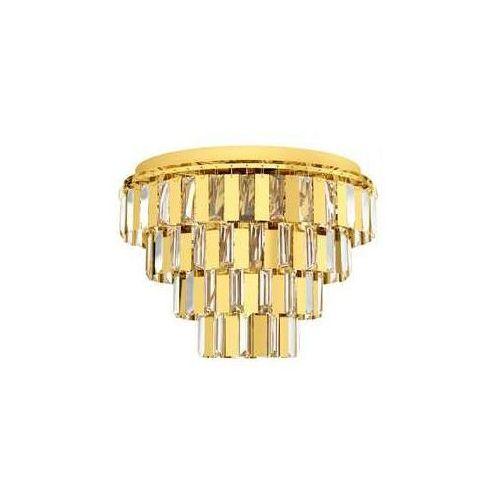 Eglo Erseka 99096 plafon lampa sufitowa 7x40W E14 mosiądz/transparentny