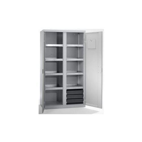 Stumpf-metall Szafa ekologiczna, drzwi perforowane, wys. x szer. x głęb. 1800x1000x500 mm, 7 p