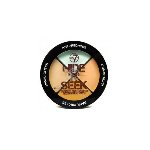 W7 Hide 'N' Seek Concealer (W) paleta 4 korektorów do twarzy Green 5g