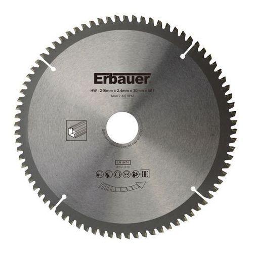 Tarcza uniwersalna Erbauer 216 x 30/25/20/16 mm 80T, TWTB8218