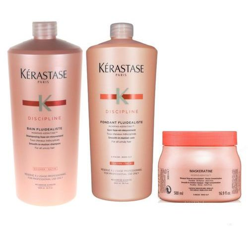 Kerastase Fluidealiste | Zestaw dyscyplinujący włosy: szampon 1000ml + odżywka 1000ml + maska 500ml (9753197531634)