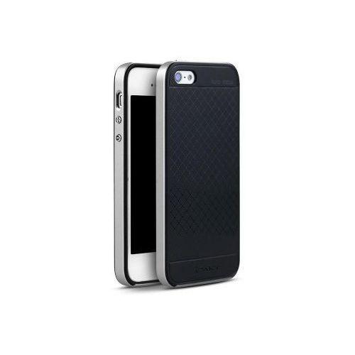 premium hybrid apple iphone 5/5s/se - srebrny + szkło hartowane marki Ipaky