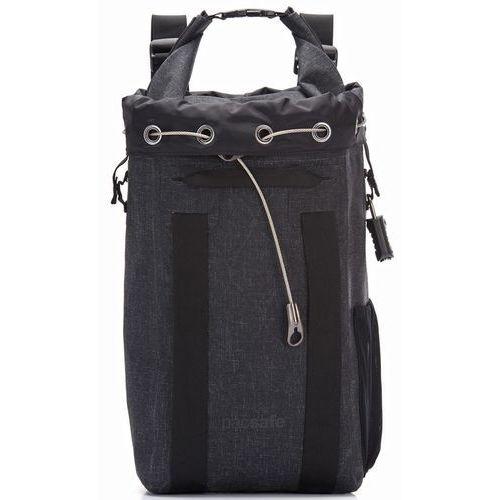 dry 15l plecak antykradzieżowy wodoodporny / sejf podróżny / charcoal - charcoal marki Pacsafe