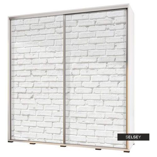 Selsey szafa wenecja 205 cm biała cegła