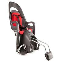 Fotelik rowerowy HAMAX CARESS szaro-ciemnoszary czerwona wyściółka, 750