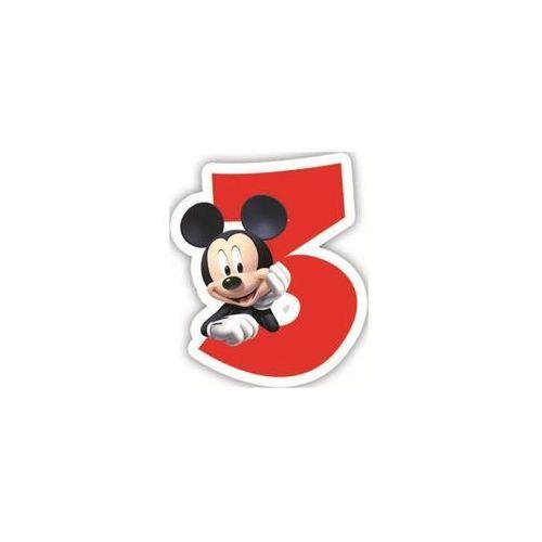 """Świeczka cyferka trójka """"3"""" Myszka Mickey - 1 szt. (5201184831519)"""