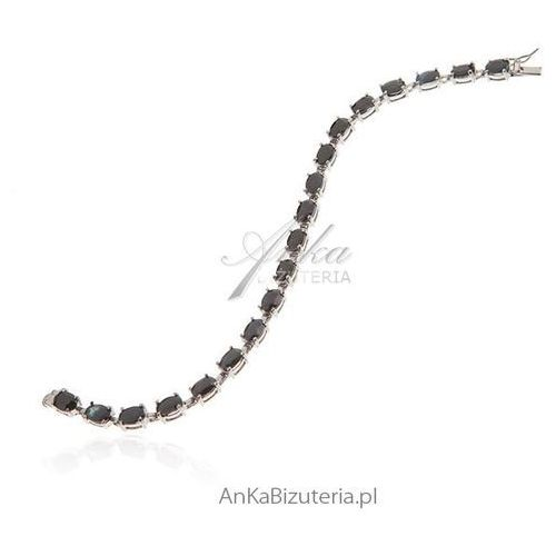 Bransoletka srebrna z prawdziwym szafirem marki Anka biżuteria
