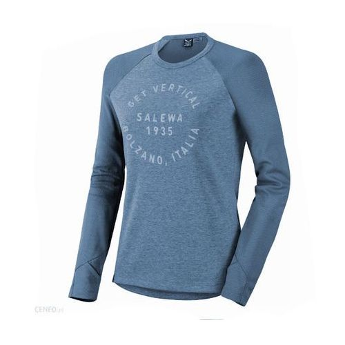 Nowa bluzka puez dry w l/s tee adriatic blue rozmiar 40 marki Salewa