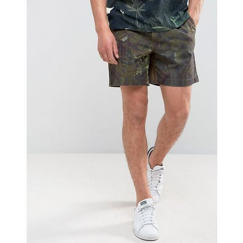 Weekday piotr rouss shorts jungle print - green